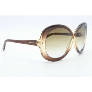 TOM FORD MARGOT BROWN SUNGLASSES AUTHENTIC FRAMES
